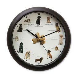 Barking Dogs Clock with Light Sensor