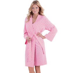 Oh-So-Soft Pink Polka Dot Robe