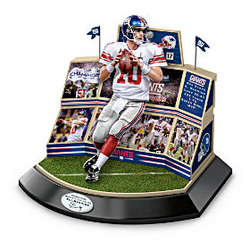 New York Giants 2012 Super Bowl Stadium with Eli Manning Figurine