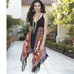 Misses Scarf Print Tunic