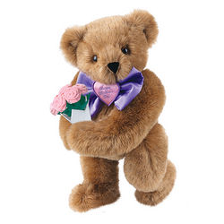 Mother's Day Bowtie Teddy Bear with Pink Roses