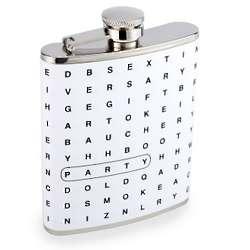Crossword Stainless Steel Flask