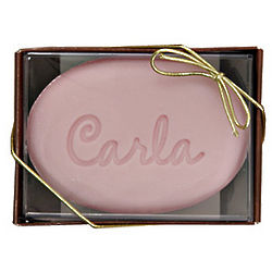 Personalized Cherries Jubilee Engraved Soap