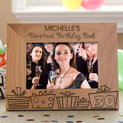 Personalized Birthday Party Picture Frame