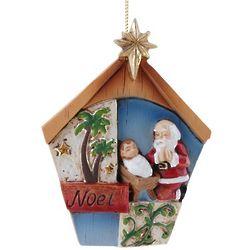 Noel Kneeling Santa Ornament