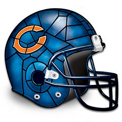Chicago Bears Football Helmet Accent Lamp