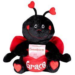 Personalized Valentine Ladybug Plush Pocket Pet