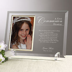 Personalized Communion Blessing Picture Frame