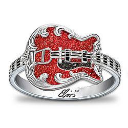 Women's Elvis '68 Comeback Special Guitar Ring