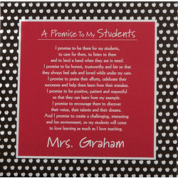 Teacher's Promise Personalized 12x12 Canvas
