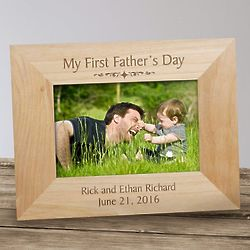 My First Father's Day Wood Picture Frame