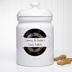 Throw Me a Bone Personalized Treat Jar