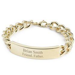 Men's Classic Gold ID Bracelet