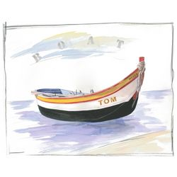 Smooth Sailing Dinghy Watercolor Personalized Print