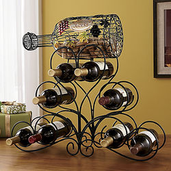 Wine Rack with Cork Collecting Bottle