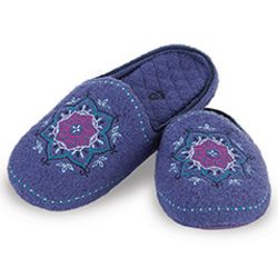 Henna Boiled Iris Wool Slippers