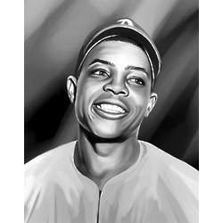 Willie Mays Pop Art Print