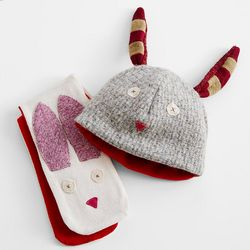 Bunny Scarf and Hat Gift Set