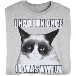 I Had Fun Once Grumpy Cat T-Shirt