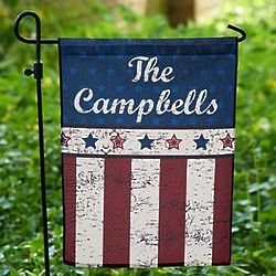 Personalized Stars and Stripes Garden Flag