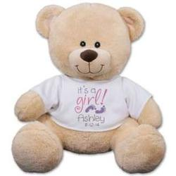Personalized It's a Girl Teddy Bear