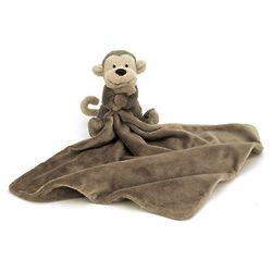 Bashful Monkey Stuffed Animal Blanket