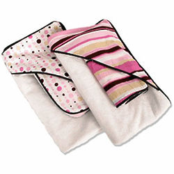Pink Themed Hooded Towel & Washcloth Set