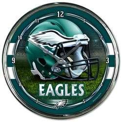 Philadelphia Eagles Chrome Plated Clock