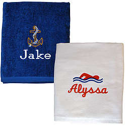 Monogrammed Premium Velour Beach/Pool Towel