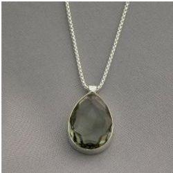Black Diamond Crystal Necklace