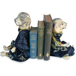 Dogs Like to Read Wood Bookends