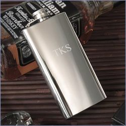 Personalized 5 Ounce Shiny Pocket or Boot Flask