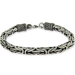 Men's Sterling Silver Bali Bracelet