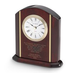 High Gloss Mahogany Clock