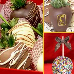 """Call Me"" Chocolate Covered Apple & 6 Strawberry Gift Set"