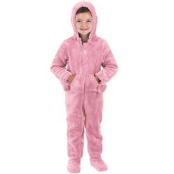 Hoodie-Footie for Toddlers in Pink