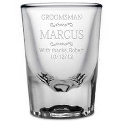 Personalized Groomsmen Shot Glass