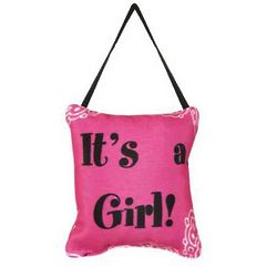 It's a Girl Word Pillow Doorknob Decoration