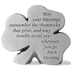 May Your Blessings Shamrock Stone