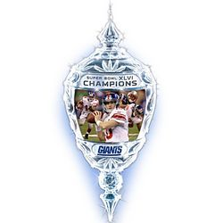 NFL New York Giants 2012 Super Bowl Champions Crystal Ornament