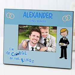 Personalized Ring Bearer Wedding Picture Frame