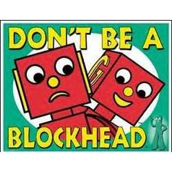 Gumby - Don't be a Blockhead Tin Sign
