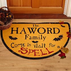 Personalized Visit for a Spell Halloween Doormat