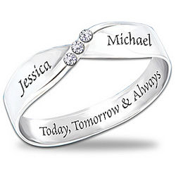 Personalized Infinite Love Diamond Ring
