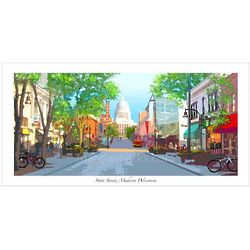 Madison Wisconsin State Street Print