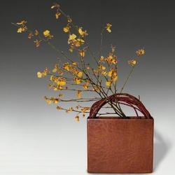 Contemporary Hand-hammered Copper Flower Vase