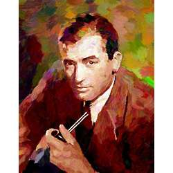 Gregory Peck Oil Painting Style Print