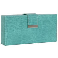 Justine Travel Jewelry Suitcase in Turquoise Snakeskin