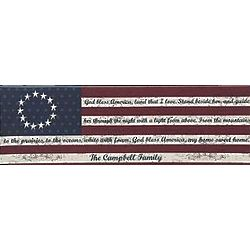 Personalized Stars and Stripes Canvas Wall Art