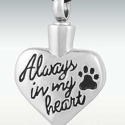 Always In My Heart Stainless Steel Cremation Pendant